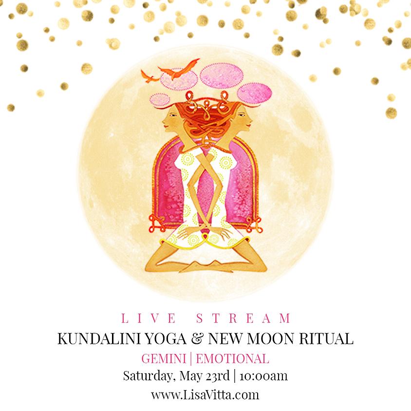 Saturday LIVE Kundalini Yoga+ New Moon Ritual: Gemini | Emotional