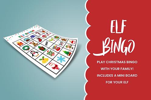 Christmas BINGO Printable wth mini board for Elf on the Shelf | Elf Props