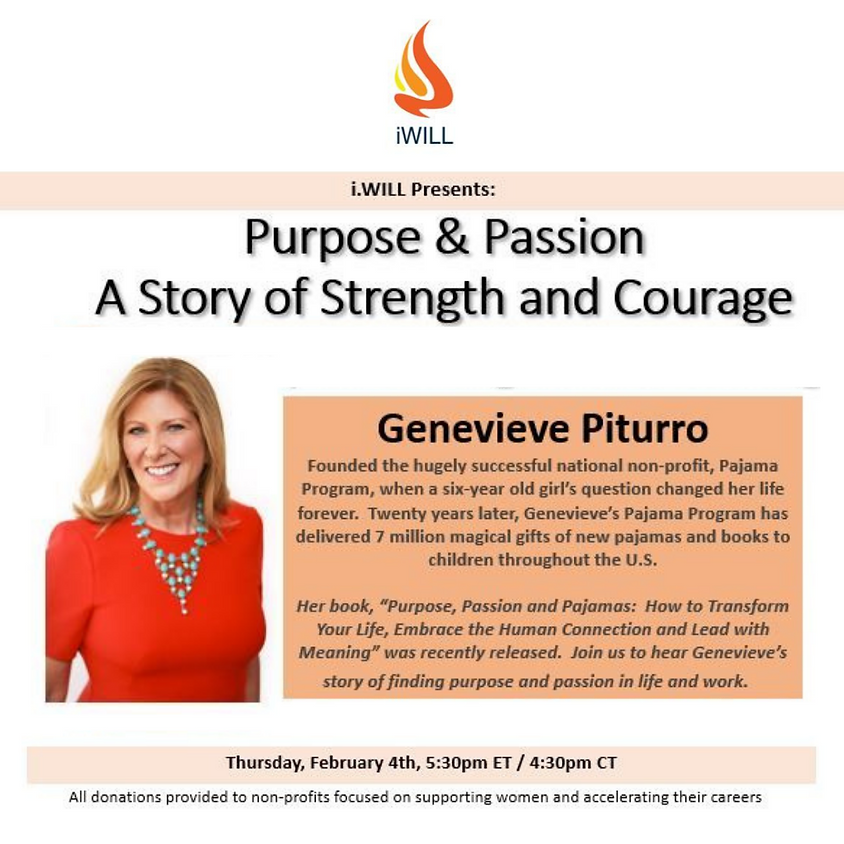 i.WILL Presents: Purpose & Passion with Genevieve Piturro
