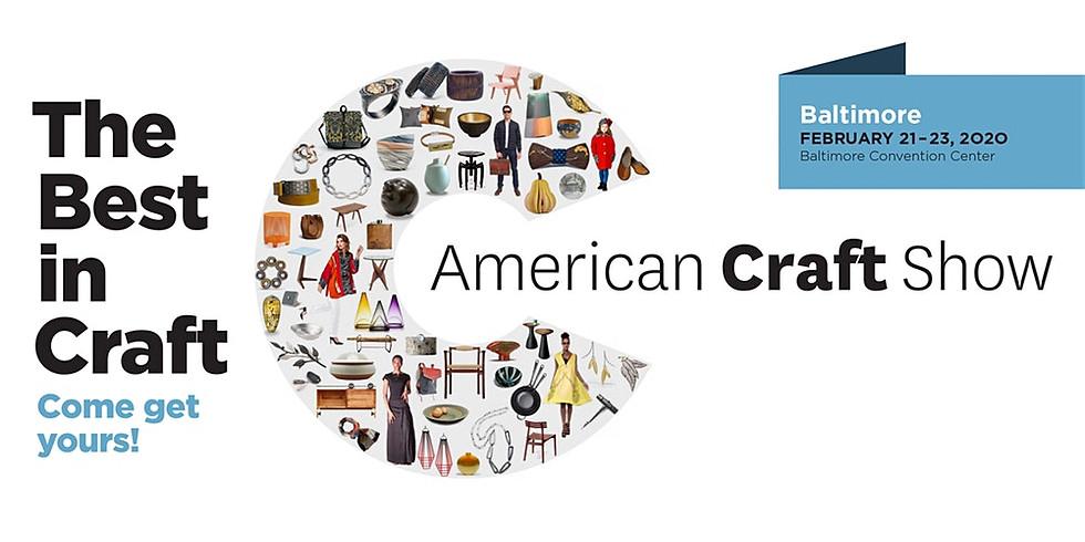 American Craft Show, Baltimore