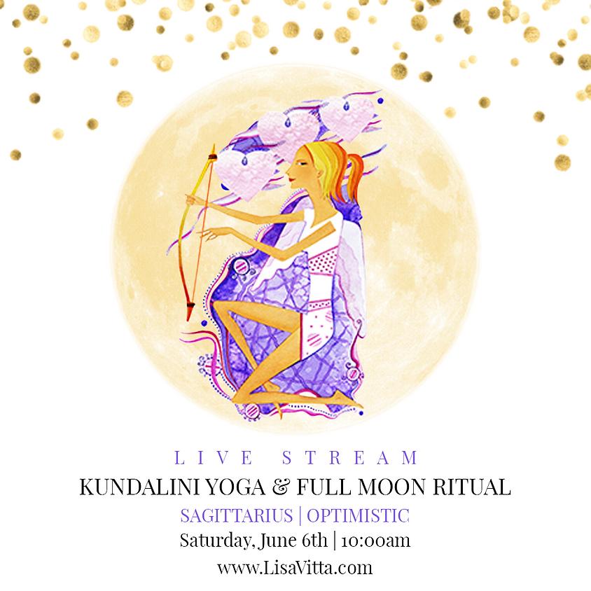 Saturday Kundalini Yoga+ Full Moon Ritual: Sagittarius   Optimistic