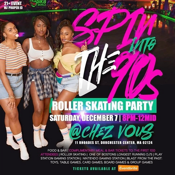 SPIN into the 90's Skate Party