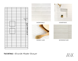 Master Shower Tiles - Master Bath Visual - Amber Wilhelmina Design & Interiors