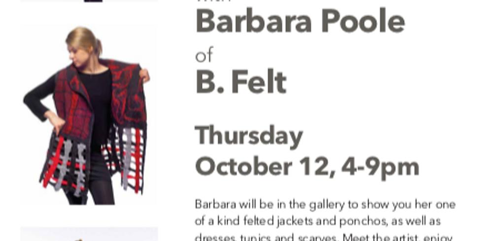 Trunk Show with Barbara Poole of B. Felt