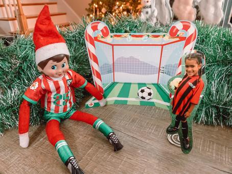 December 21st: GAME TIME! Easy Elf on the Shelf Soccer Game