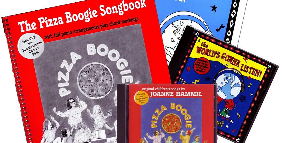 Pizza Boogie & The World's Gonna Listen - CDs & Songbooks Bundle