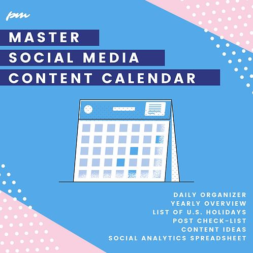 Master Social Content Calendar