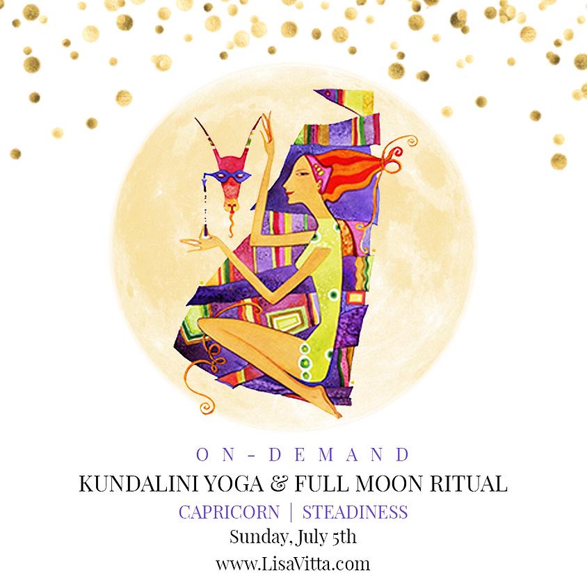 On Demand - Kundalini Yoga+ Full Moon Ritual: Capricorn | Steadiness
