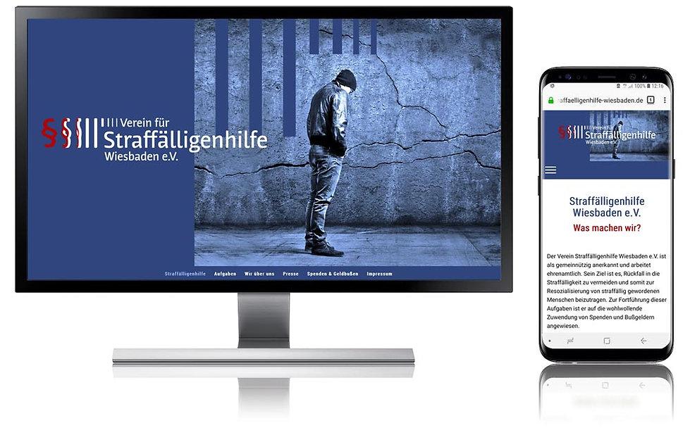 Websitebeispiel  Straffälligenhilfe Wiesbaden