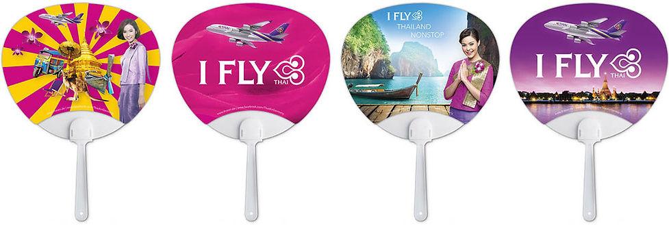 """Thai Airways Giveaways """"Fächer"""""""