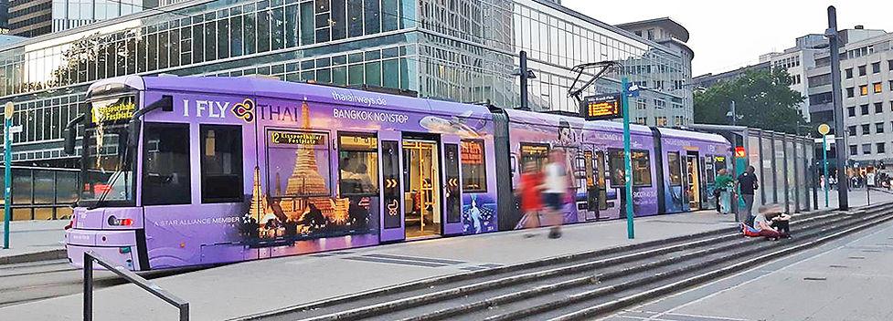 Tram Thai Airways Frankfurt Juni 2019
