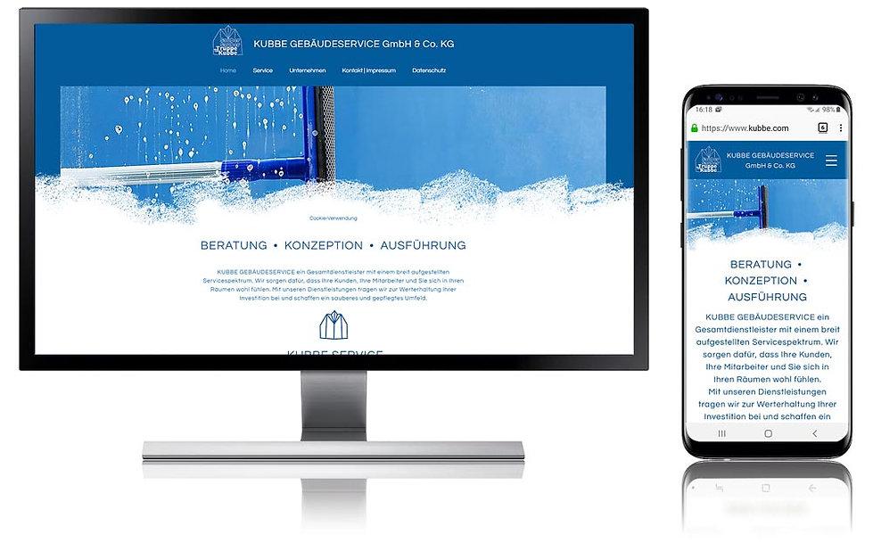 Websitebeispiel Kubbe Gebäudeservice GmbH Co KG