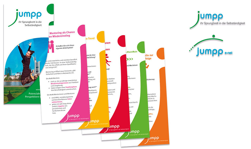 Corporate Design Beispiel: jumpp Frauenbetriebe e.V.