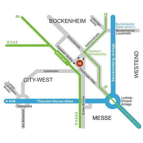 Anfahrtsskizze | Verkehrswege-Grafik