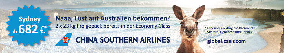 China Southern Airlines Bannerbeispiel