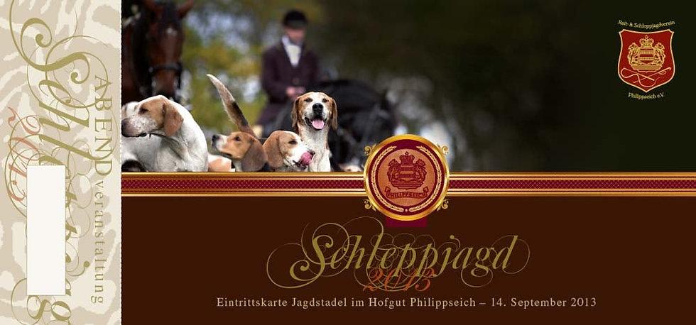 Reit- & Schleppjagdverein Philippseich e.V.: nummerierte Eintrittskarte