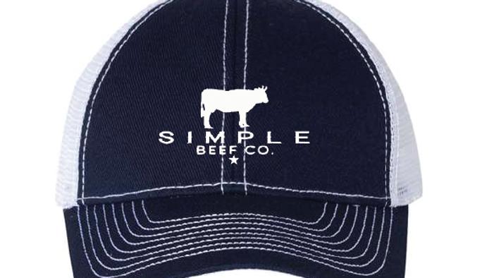 Simple Beef Hat-Navy