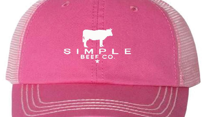 Simple Beef Hat-Pink