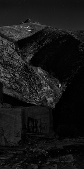 """""""LA CATHEDRALE"""" old Quarry of Henraux in Full Moon Light"""