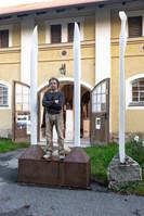 LEONHARD SCHLÖGEL in Front of his Studio in Wessobrunn
