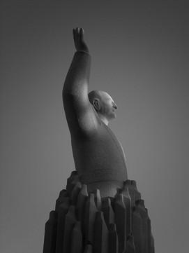 KONG OLAV Sculpture by Knut Steen