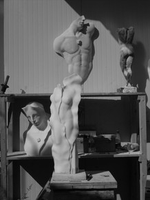 EPPE DE HAAN Sculptures in his Studio
