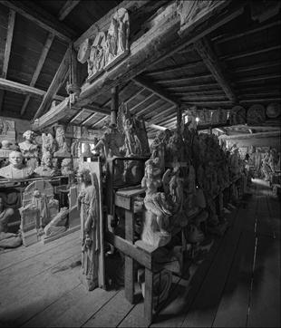 The old Studio of CERVETTI in Pietrasanta