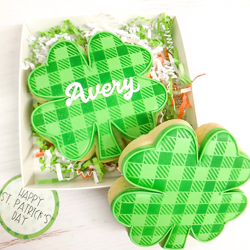 Personalized 4 leaf clover