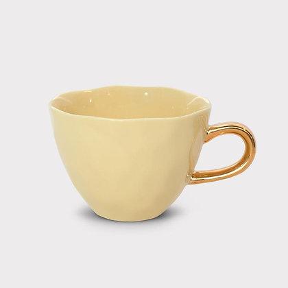 Good Morning cup Raffia Yellow