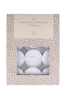 Waxinelichtjes in een doosje grijs
