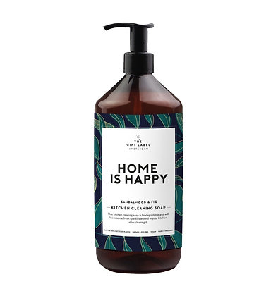 Home is happy kitchen soap