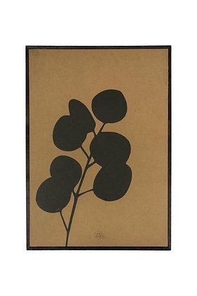 Zusss schilderij eucalyptus in de kleur oker