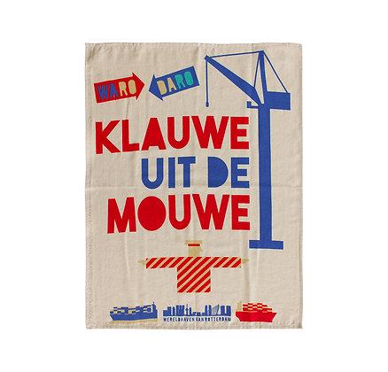 Rotterdamse theedoek Klauwe uit de mouwe