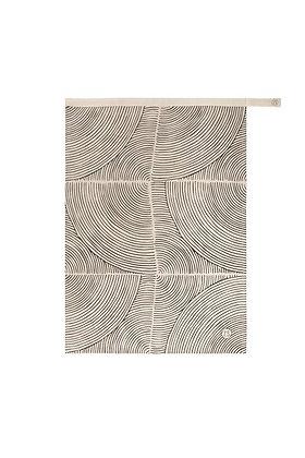 Theedoek met grafisch patroon zand