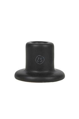 Kleine Zusss kandelaar van keramiek in het zwart
