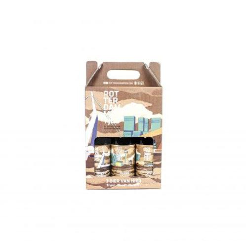 3-Pack Rotterdammertjes bier in cadeauverpakking (Weizen, Tripel, Blond)