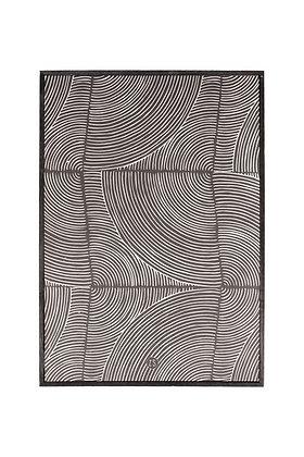 Schilderij grafisch patroon 35x25cm zwart