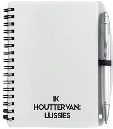 Notitieboekje - Ik houttervan: Lijssies
