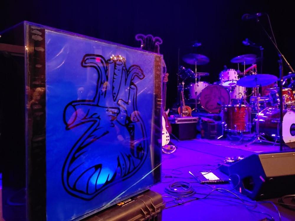 RWB stage set up.