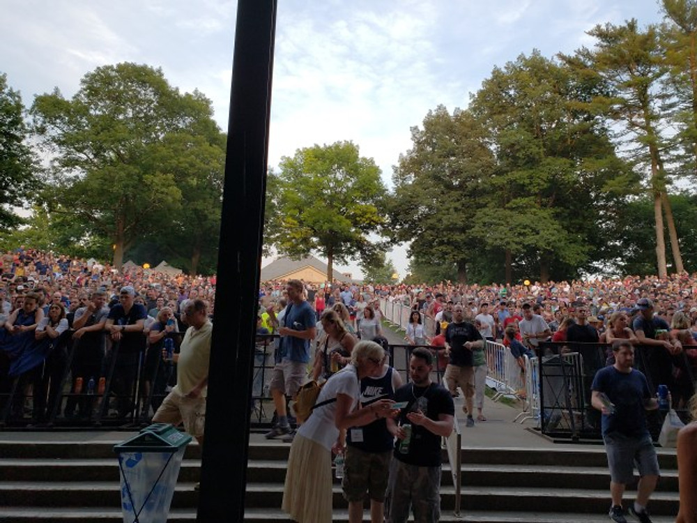 The lawn at SPAC.