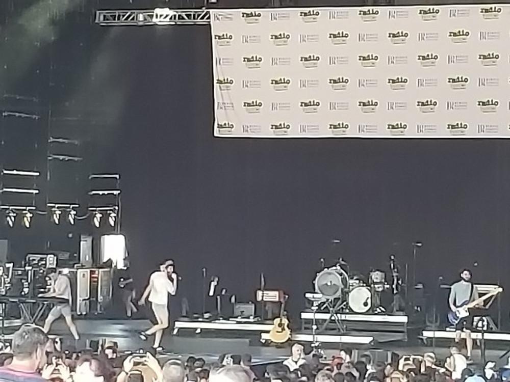 AJR on stage.