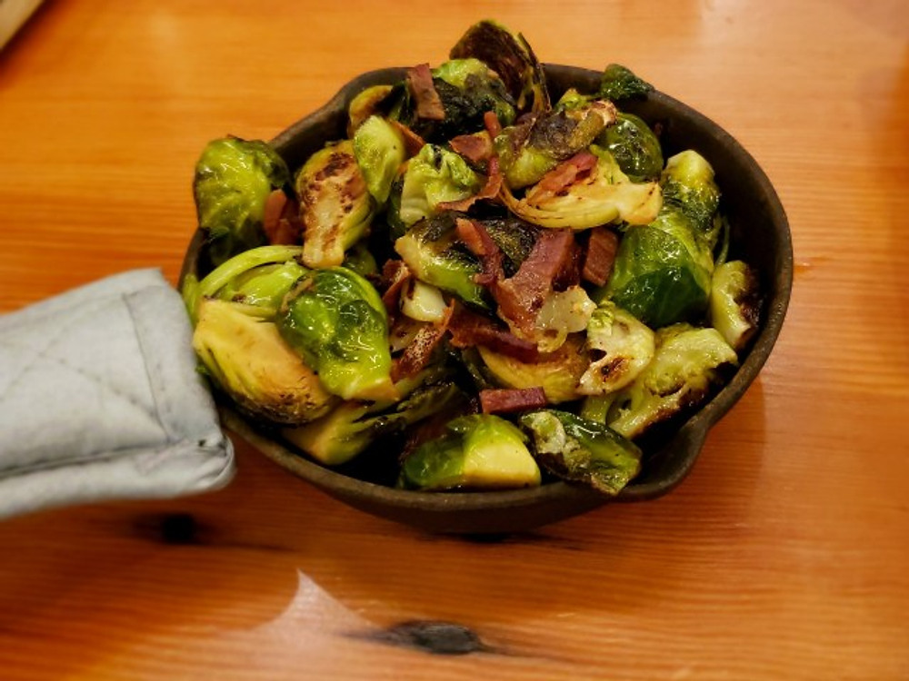 The brussel sprout skillet at Stitch House Brewery.