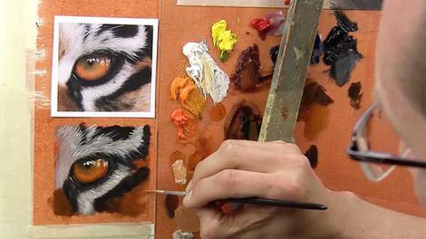 Painting Eyes - Oils