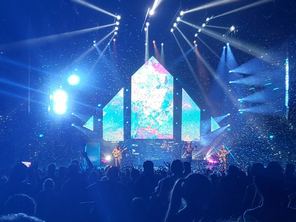 Imagine Dragons on stage.