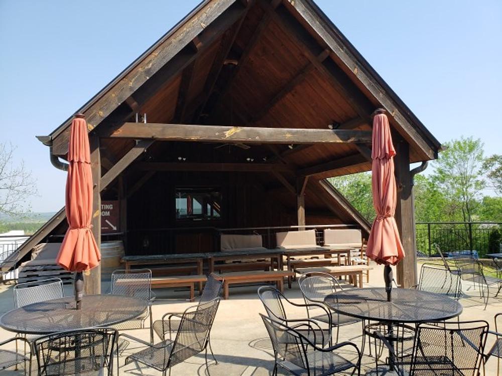 The outside of the tasting room at Blenheim Vineyards in Charlottesville.