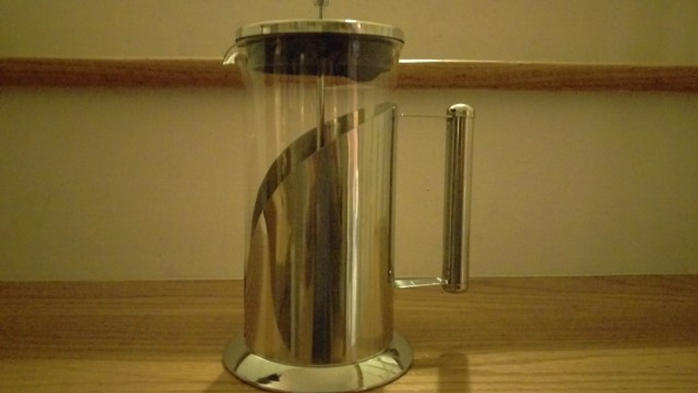 A picture of the French Press we use at home.