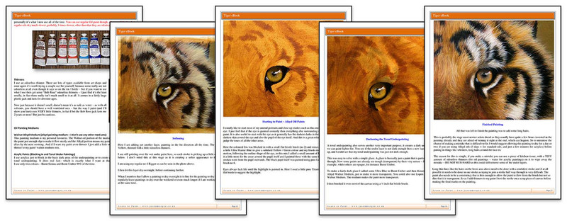 How to Paint a Tiger's Eye & Fur