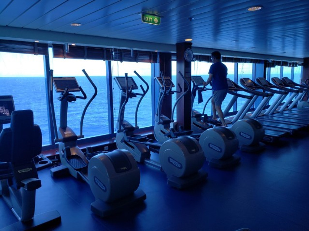 Gym on the cruise ship