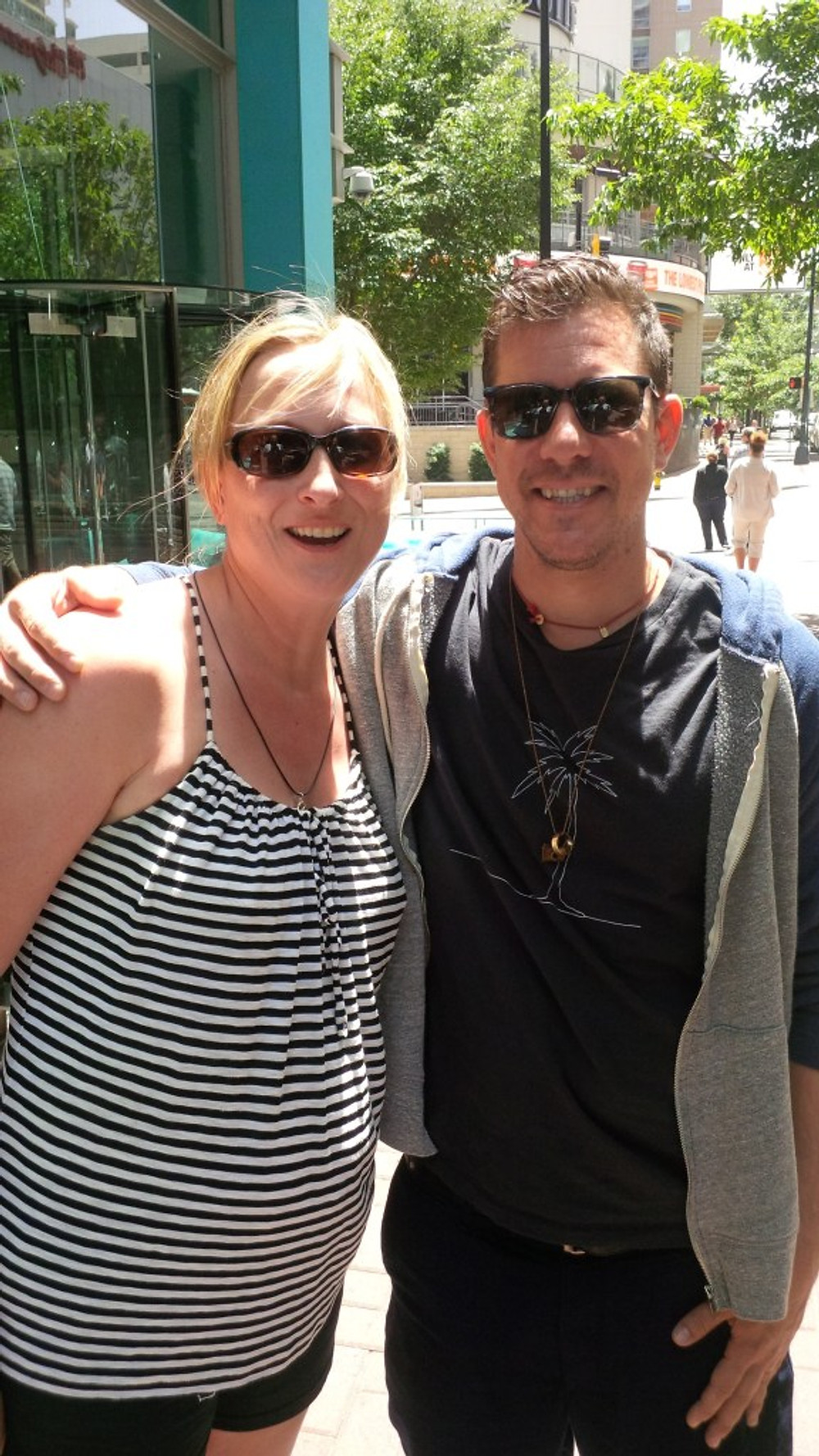 A picture of me with Stefan Lessard from DMB.