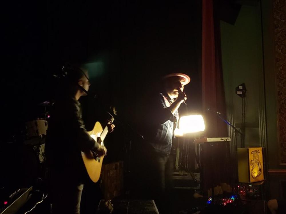 RWB on stage.